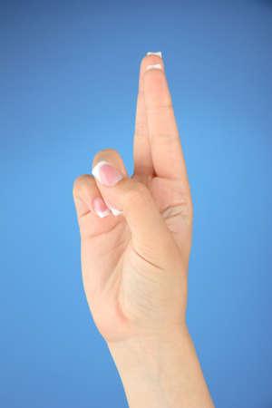 asl sign: Finger Spelling the Alphabet in American Sign Language (ASL). Letter R