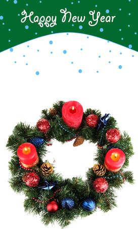 religious text: Beautiful Christmas wreath