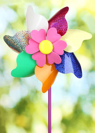 Colored pinwheel on bright background Stock Photo - 20651173