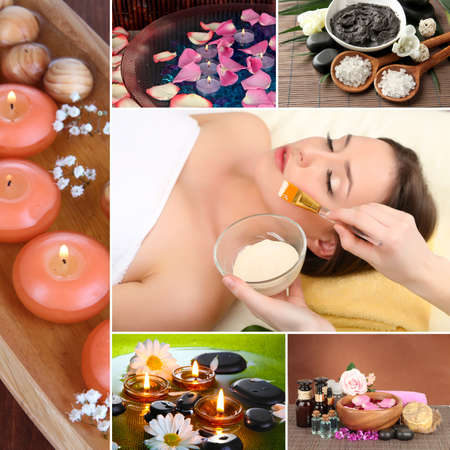 spa collage: Spa collage