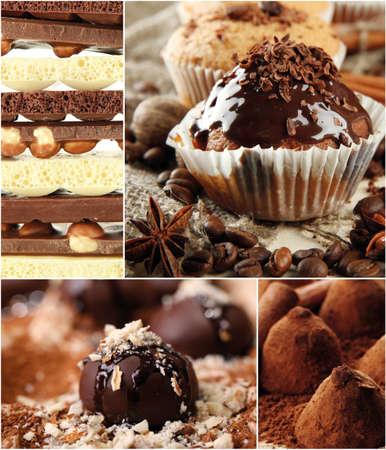 Collage of dessert photo