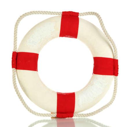 lifeline: Small lifeline isolated on white Stock Photo