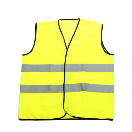 Yellow vest, isolated on black Stock Photo - 20651511