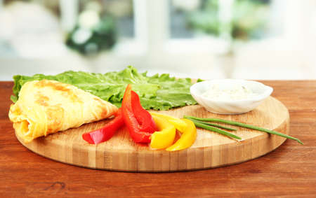 Ingredients for preparing egg rolls, on bright background Stock Photo - 20700605