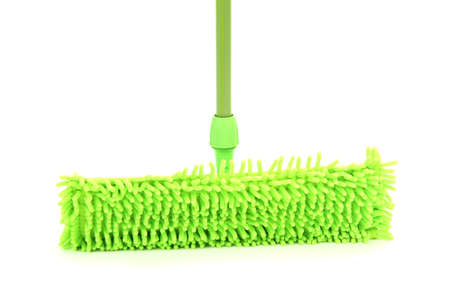 office cleanup: Mop isolated on white Stock Photo