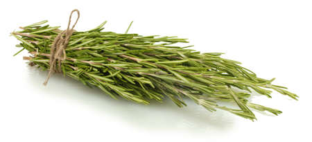 lavage: fresh green rosemary isolated on white Stock Photo