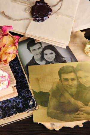 Vintage memories close up photo