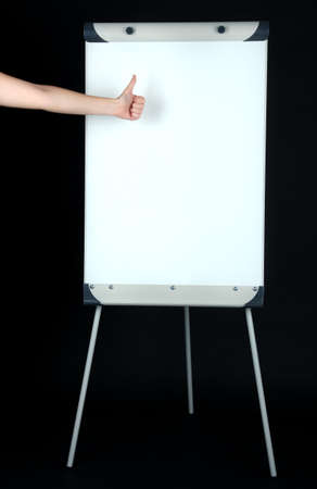 Flipchart on black background photo