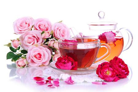 Rose tea close up Фото со стока