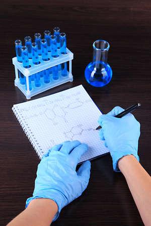 Scientist working at laboratory photo
