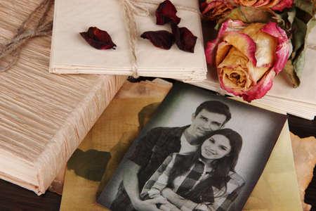 carta de amor: Recuerdos vintage close up Foto de archivo