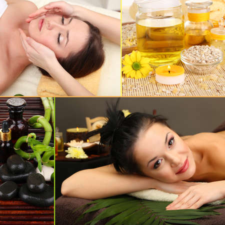 Collage de spa photo