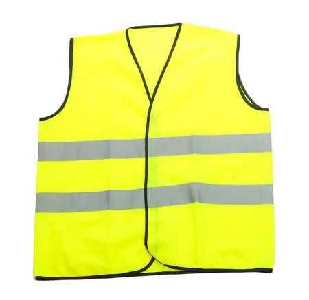 Yellow vest, isolated on black Stock Photo - 20930079