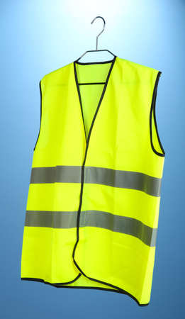 Yellow vest, on color background Stock Photo - 20930115