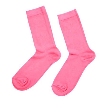 socks child: Colorful socks isolated on white