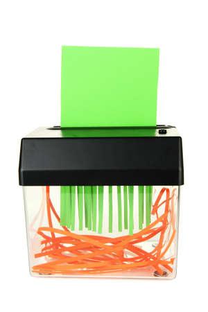 shredder machine: Paper shredder machine, isolated on white