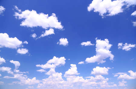 blue ray: Blue sky background with clouds Stock Photo