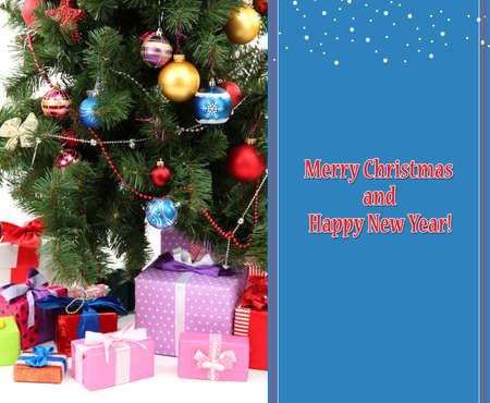 toygift: Decorated Christmas tree with gifts