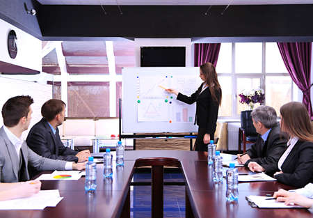 Commerciële opleiding op kantoor