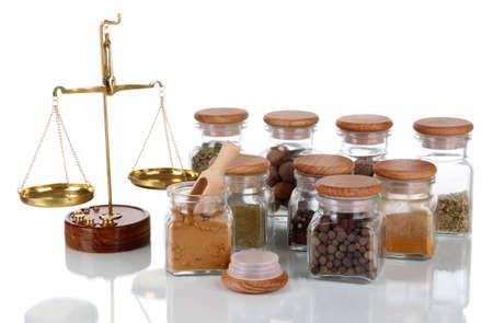 herbolaria: Venta de especias aislados en blanco