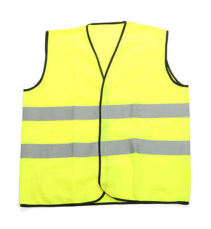 Yellow vest, isolated on black Stock Photo - 21034119