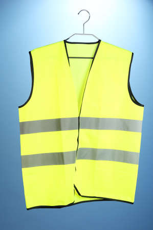 Yellow vest, on color background Stock Photo - 21034120