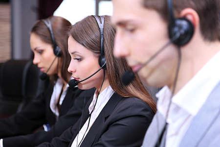telephone call: Call center operators at work