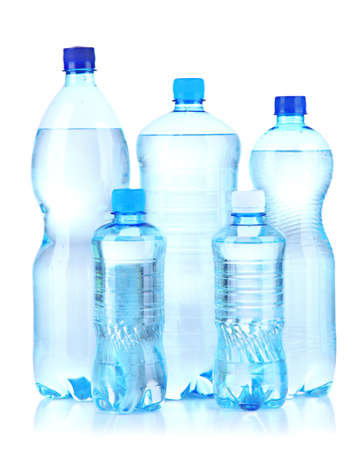 Bottles of water, isolated on white Stock Photo - 21093690