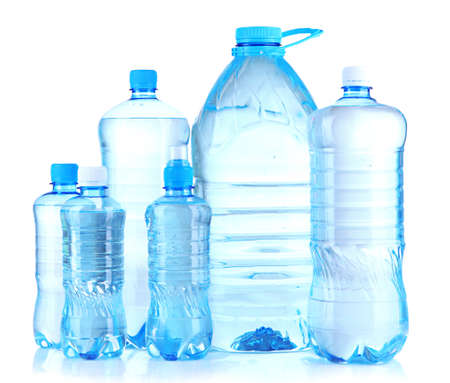 Bottles of water, isolated on white Stock Photo - 21093765