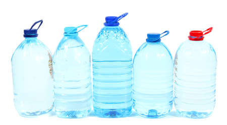 Water in big bottles isolated on white Stock Photo - 21112528