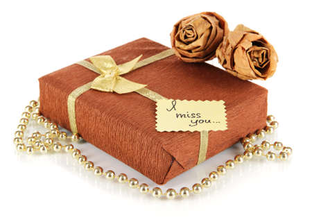Romantic parcel isolated on white photo