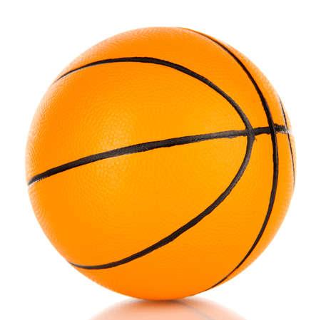 Basket ball, isolated on white photo