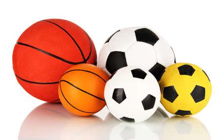 circle shape: Sport balls, isolated on white Stock Photo