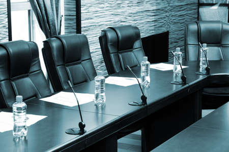 commercially: Meeting room in office center in shades of grey