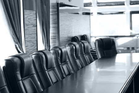 Interior of empty conference room in shades of grey photo