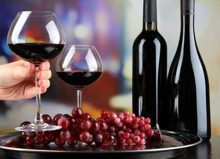 Wine tasting in restaurant Stock Photo