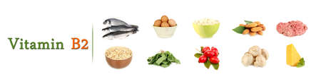 microelements: Products which contain vitamin B2