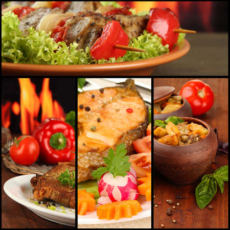 tantalizing: Collage of tantalizing culinary dishes
