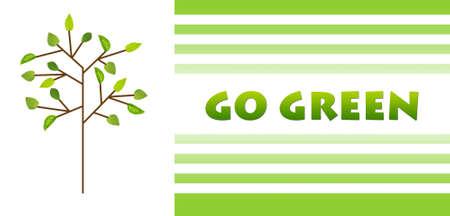 go green background: Go green  Eco concept