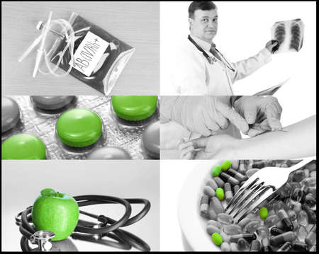 Collage of medical images photo