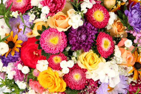 Bright flowers background photo