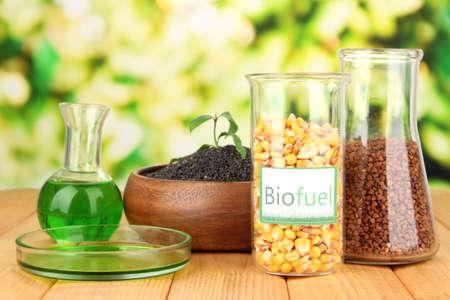 Conceptual photo of bio fuel.  On bright background photo