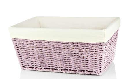 Wicker basket isolated on white Stock Photo - 21854324