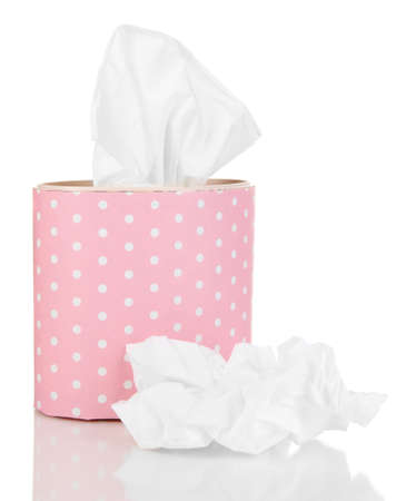 facial tissue: Cleaning wipes isolated on white Stock Photo
