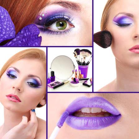 Beautiful make-up collage photo