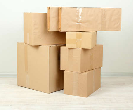 Different cardboard boxes in room Stock Photo - 21898364