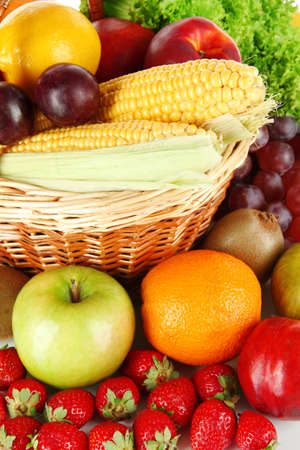 Different fruits and vegetables close-up photo