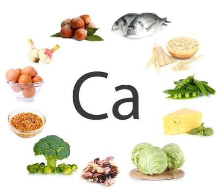 칼슘을 포함하는 제품의 콜라주 스톡 콘텐츠 - 21977661