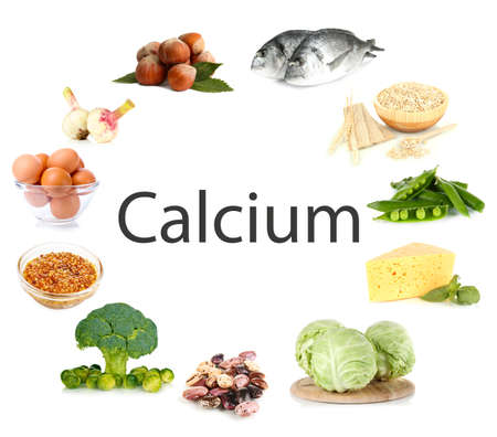 containing: Collage of products containing calcium
