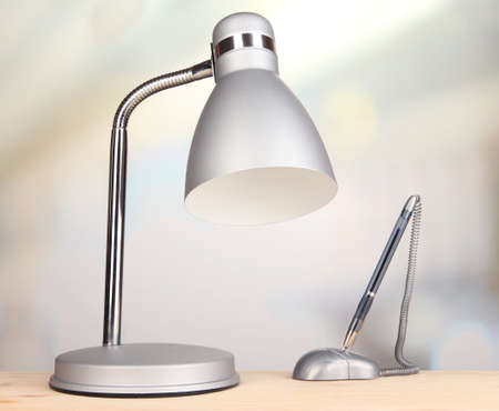 Table lamp in room photo